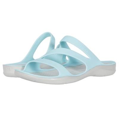 クロックス Swiftwater Sandal レディース サンダル Ice Blue/Pearl White