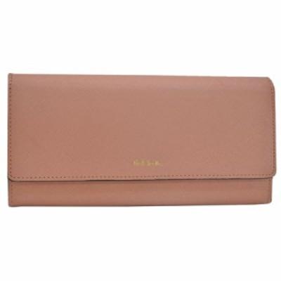 【定番人気】【中古】ポールスミス 二つ折り長財布   レディース ピンク k8952