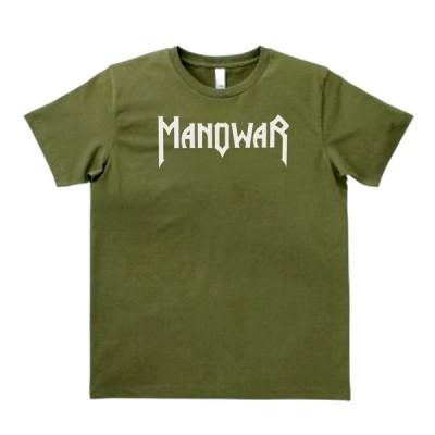 バンド ロック Tシャツ MANOWAR カーキー MLサイズ