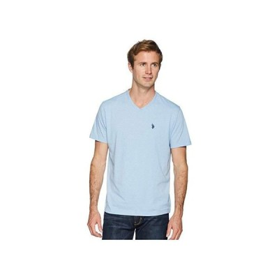 U.S. POLO ASSN. Short Sleeve Solid V-Neck T-Shirt メンズ シャツ トップス Sea Blue Heather