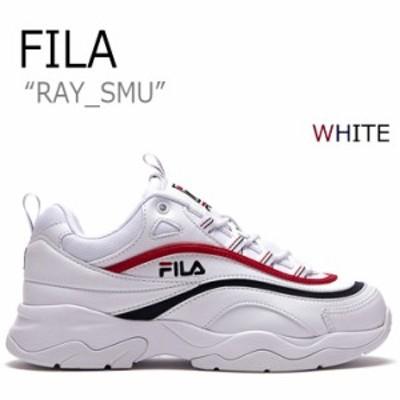 フィラ スニーカー FILA レディース RAY SUM レイ WHITE ホワイト RED レッド NAVY ネイビー FLFL8A1U12 FS1SIA1167X シューズ
