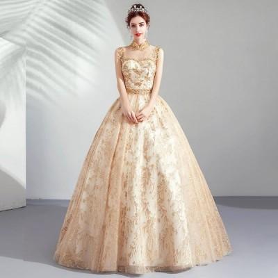 ウエディングドレス レディース ブライダル 花嫁ドレス ロングドレス オシャレ 写真撮影 ドレス ベアトップ プリンセスドレス 演奏会ドレス