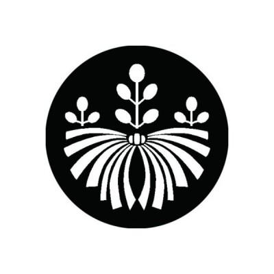 家紋シール 白紋黒地 熨斗桐 布タイプ 直径40mm 6枚セット NS4-3131W