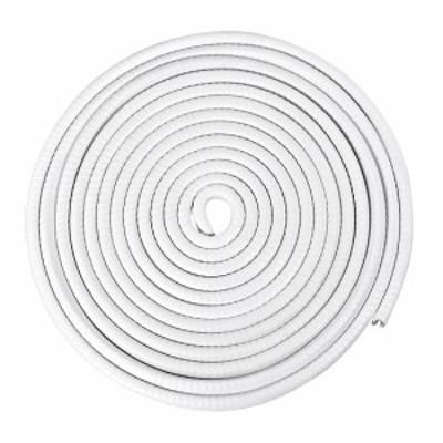 uxcell エッジトリム 適合3.5-4.5mm エッジ5M長さ Uシール押出 Uチャンネルエッジプロテクター PVC プラスチック アイアン ホワ