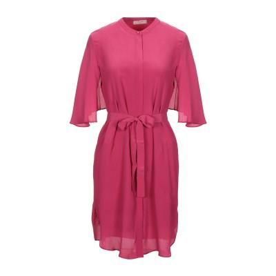 ツインセット シモーナ バルビエリ TWINSET ミニワンピース&ドレス フューシャ 40 レーヨン 66% / シルク 34% ミニワンピース&