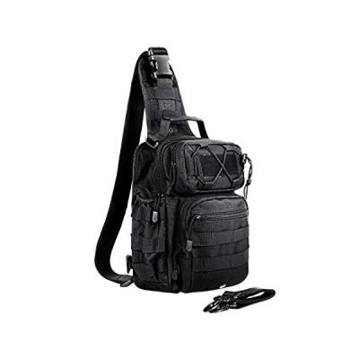特別価格AmHoo Tactical Sling Bag Outdoor EDC Molle Backpack Black好評販売中