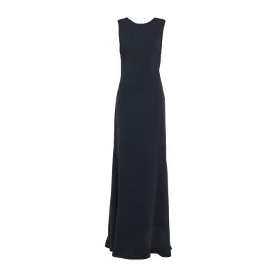 セドリック シャルリエ CEDRIC CHARLIER ロングワンピース&ドレス ブラック 44 ポリエーテル 100% ロングワンピース&ドレス