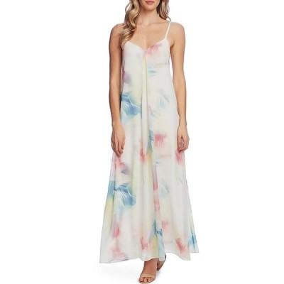 ヴィンスカムート レディース ワンピース トップス Sleeveless Watercolor Print Maxi Dress