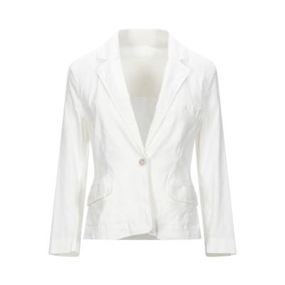 120% テーラードジャケット ホワイト 38 リネン 60% / コットン 38% / ポリウレタン 2% テーラードジャケット