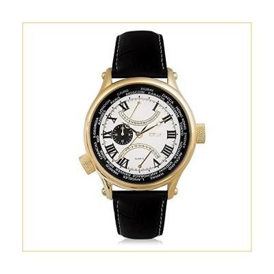Daniel Steiger World Retrograde White Luxury Gold Watch - Water Resistant - Premium Grade Stainless Steel - Gold Finish - Multi-Function Dial - Genuin