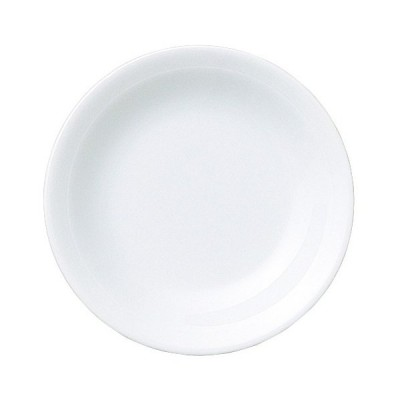中皿 中華食器 / 白翔 リム5.0皿 寸法: D-15.5 H-2.5cm