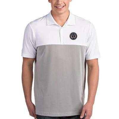 """メンズ ポロシャツ """"Philadelphia Union"""" Antigua Venture Polo - White/Steel"""