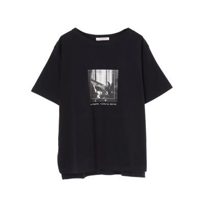 モノトーンプリントTシャツ