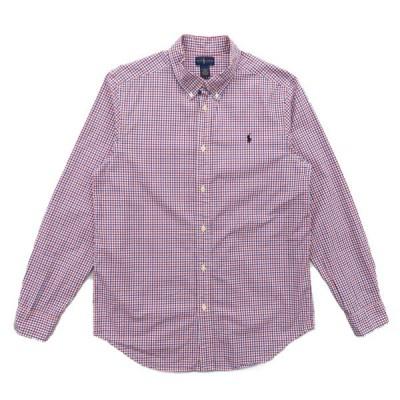 古着 ラルフローレン RALPH LAUREN ボタンダウンシャツ 長袖 チェック サイズ表記:XL(18-20)
