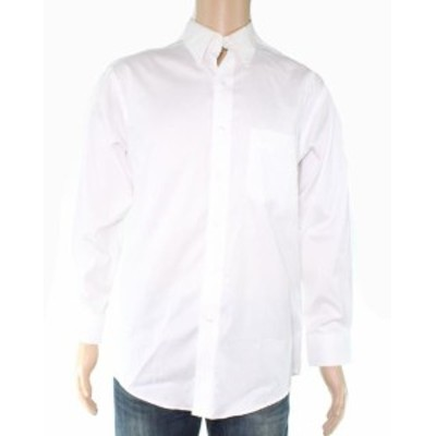 One  ファッション ドレス Club Room Mens Dress Shirt Bright White Size 16 One Pocket Solid