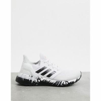 アディダス adidas レディース スニーカー シューズ・靴 Ultraboost 20 Trainers In White Black and Signal Coral