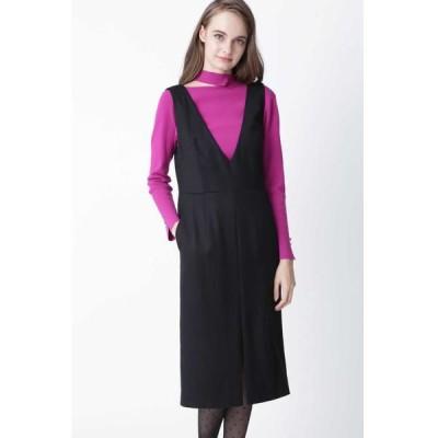 PINKY & DIANNE/ピンキーアンドダイアン ◆ウールヘリンボーンジャンパースカート ブラック 36