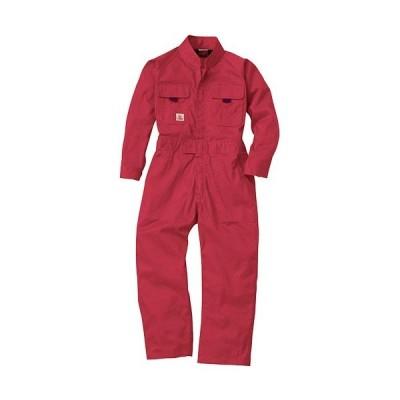 桑和(SOWA) キッズ続服 43/レッド 100〜150サイズ 9009 作業着 作業服 ワークウェア ウエア つなぎ メンズ レディース