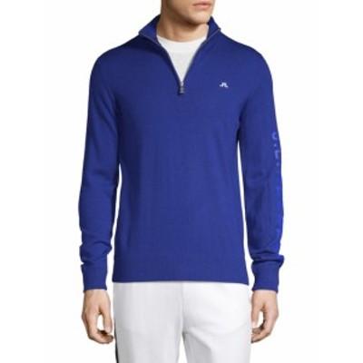 J. リンデベルクゴルフ メンズ トップス セーター ニット M Kian Logo Merino Wool Sweater