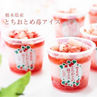 お歳暮 アイス ギフト 栃木県産 とちおとめ苺アイス 6個 アイスクリーム いちご イチゴ 御歳暮