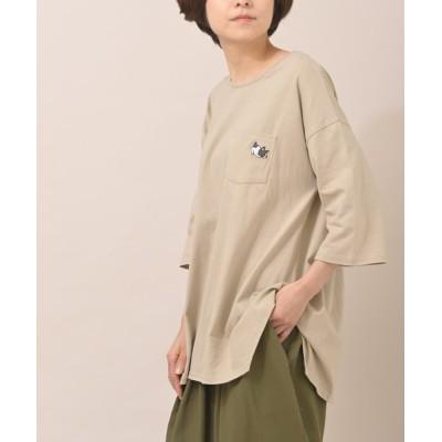 rps / フレブル刺繍イレヘム7分袖チュニックT WOMEN トップス > Tシャツ/カットソー