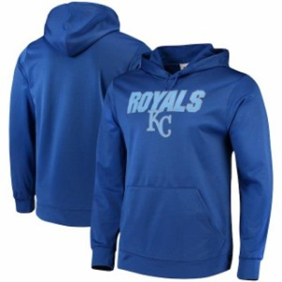 Majestic マジェスティック スポーツ用品  Majestic Kansas City Royals Royal Synthetic Fleece Pullover Hoodie