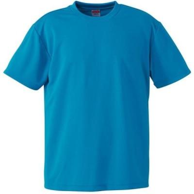 Tシャツ 無地 半袖 無地 トップス 4.1oz ドライアスレチックTシャツ ターコイズブルー  (UNA)(CQB27)