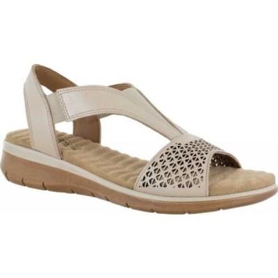 イージーストリート Easy Street レディース サンダル・ミュール シューズ・靴 Marley Comfort Wave Slingback Sandal Taupe Leather