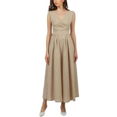 ビージーエル レディース ワンピース トップス BGL Linen-Blend Dress beige