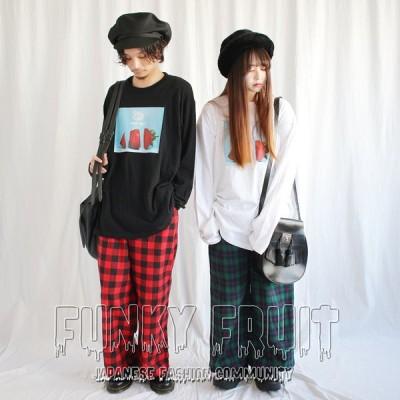 FUNKYFRUIT パンダ&ストロベリーロングスリーブTシャツ/1点のみメール便可能/5010pm-3/113