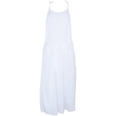 アンドレア モランド ANDREA MORANDO ロングワンピース&ドレス ホワイト M コットン 100% ロングワンピース&ドレス