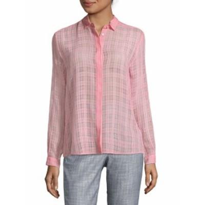 レディース トップス シャツ Grid-Print Button-Down Shirt