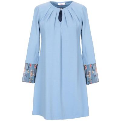 ブルーガール ブルマリン BLUGIRL BLUMARINE ミニワンピース&ドレス アジュールブルー 38 レーヨン 66% / ナイロン 30%