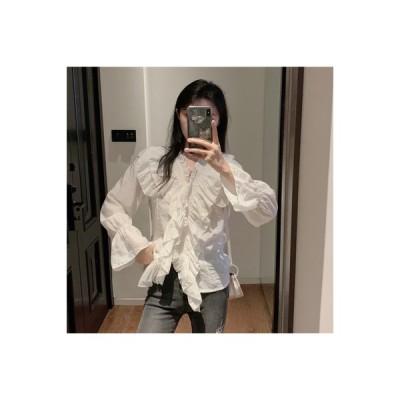 【送料無料】ファッション 西洋風 心 機 フラウンス付きのブラウス 女 秋 フレンチ タイ | 364331_A63741-0573315