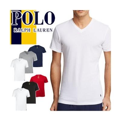 ポロ ラルフローレン Polo Ralph Lauren Tシャツ 3枚セット メンズ Vネック 半袖 パックTシャツ ブランド 大きいサイズ ワンポイント 無地 おしゃれ 白 ホワイト