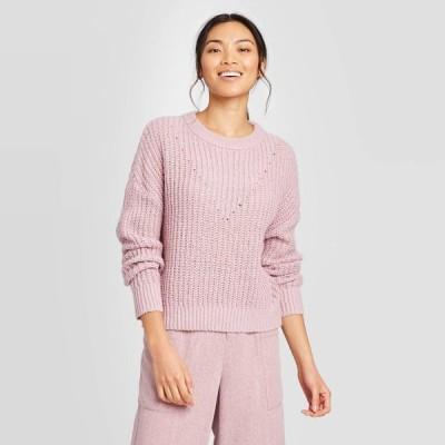 プロローグ Prologue レディース ニット・セーター トップス Crewneck Pullover Sweater - Pink