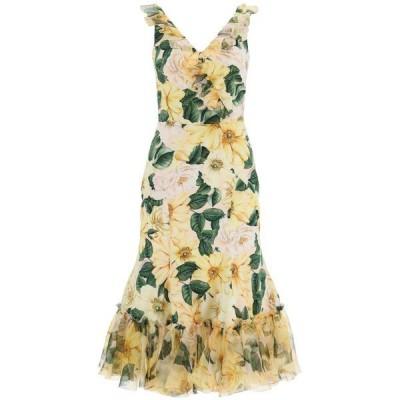 ドルチェ&ガッバーナ レディース ワンピース トップス Dolce & Gabbana Camellia Printed Midi Dress -