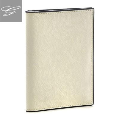 ヴァレクストラ カードケース VALEXTRA パスポートケース メンズ ソフトカーフスキン ホワイト V2L49-028-000W 2020年秋冬