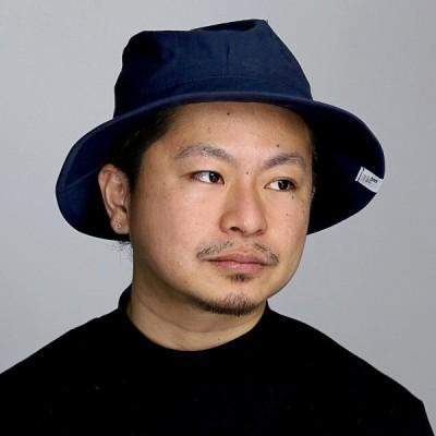 ハット 春夏 コットン ブランド ナチュラル サファリハット メンズ 帽子 racal 日本製 シンプル サハリハット 布帛 ヘンプ 紺 ネイビー