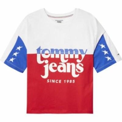 tommy-jeans トミー ジーンズ ファッション 女性用ウェア Tシャツ tommy-hilfiger color-block-logo