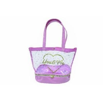 【オリジナル】ファスナー付きサマーバッグ【ピンク】【GIRLS】【ガールズ】【女の子】【小学生】【学校】【ノンキャラ】【かばん】【鞄
