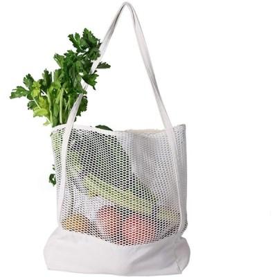 Shengshou 買い物バッグ コンパクトバッグ ビーチバッグ プールバッグ エコバッグ 折りたたみメッシュバッグ 折りたたみ ネットバッグ ショル