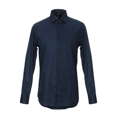 クラス ロベルト カヴァリ CAVALLI CLASS シャツ ダークブルー 48 コットン 100% シャツ