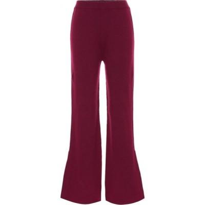 ジョゼフ Joseph レディース ボトムス・パンツ Mid-rise wool-blend flared pants Plum