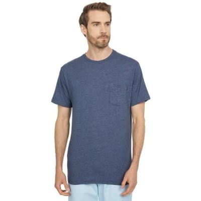 メンズ シャツ トップス Solid Pocket Short Sleeve Tee