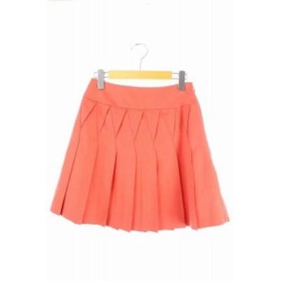 【中古】クローラ crolla スカート ミニ プリーツ 36 オレンジ /RM ■AC レディース