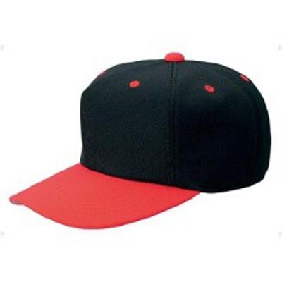 ゼット ZETT 野球用 オールニットベースボールキャップ(六方) [カラー:ブラック×レッド] [サイズ:M(55~56cm)] #BH121