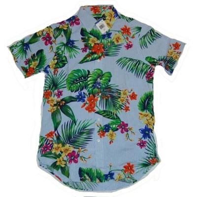 Polo RalphLauren ポロ ラルフローレン  シアサッカー 花柄プリントシャツ