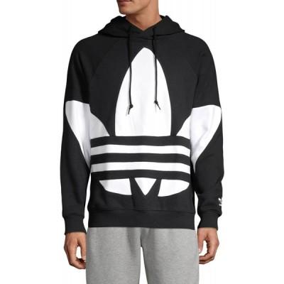 アディダス Adidas メンズ パーカー トップス Graphic Cotton Hoodie ブラック