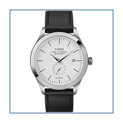 <新品>Timex 41 mm American Documents Leather Strap Silver/White/Black One Size<並行輸入品>